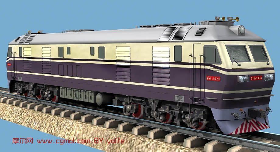 东风火车,交通工具max3d模型
