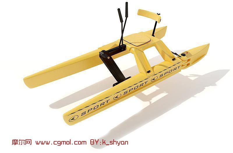 快艇,交通工具3d模型