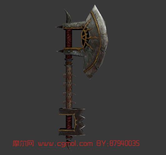 游戏斧头,武器,道具3d模型