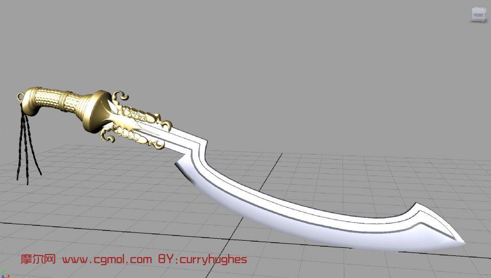 古代宝刀,武器3d模型