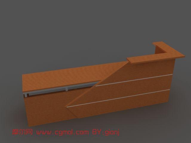 接待台,家具3d模型