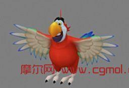 鹦鹉,游戏角色3D模型