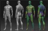 国外大师级雕刻的经典男人体3D模型