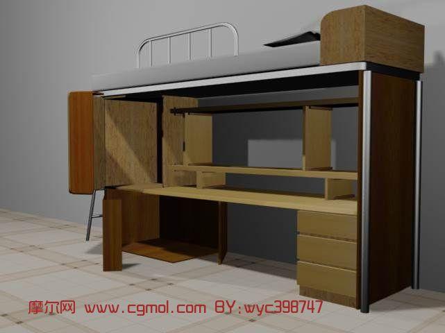宿舍模型,室内3d模型