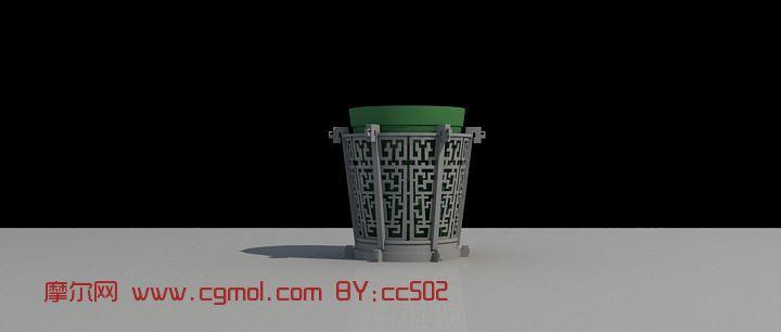 花钵建筑,花园建筑3d模型