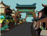 中式建筑场景3d模型