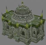建筑,城堡,龙之谷,游戏场景3d模型