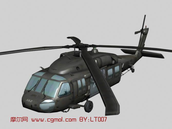黑鹰直升机,军事,飞机3d模型