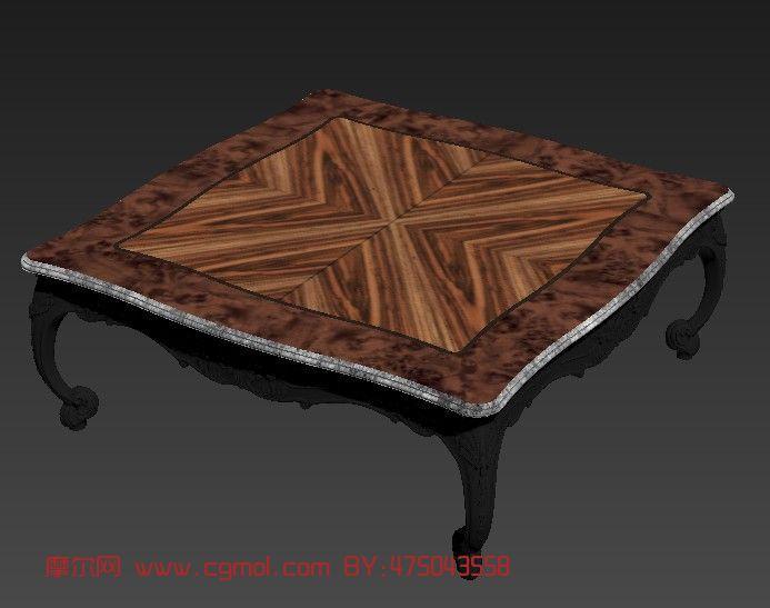 材质/贴图: 有 关键词:欧式桌子