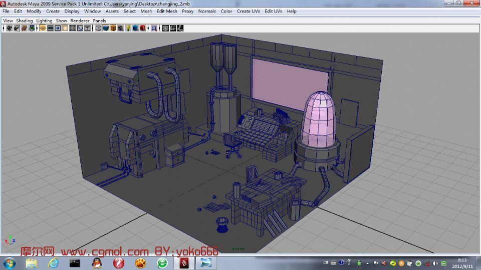 高科技办公室,室内场景3d模型