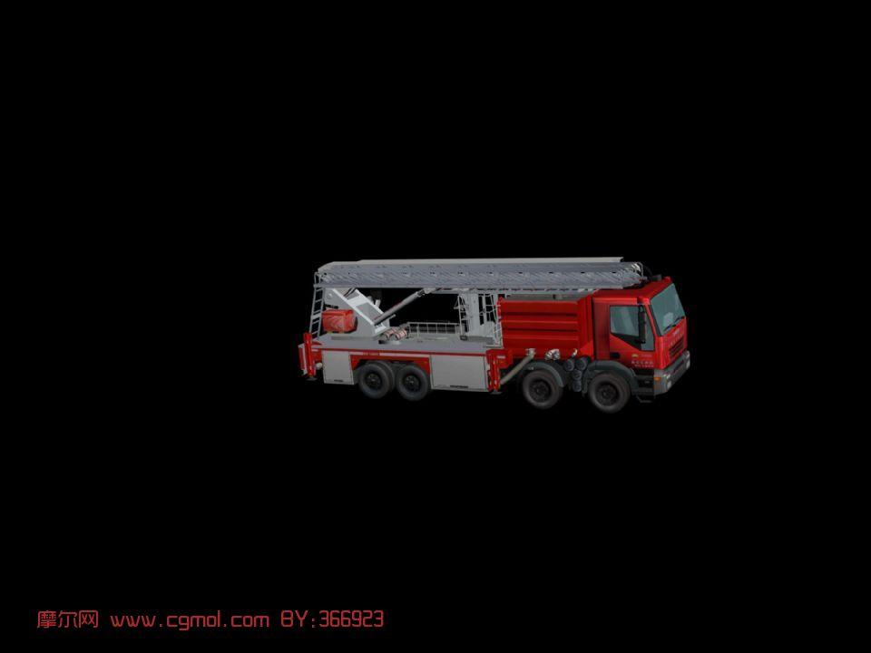 消防车,梯车,通工具3d模型