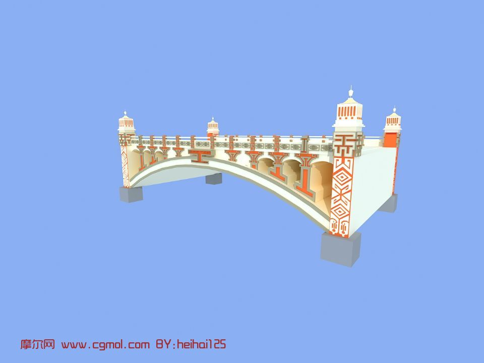 蒙式桥梁3d模型