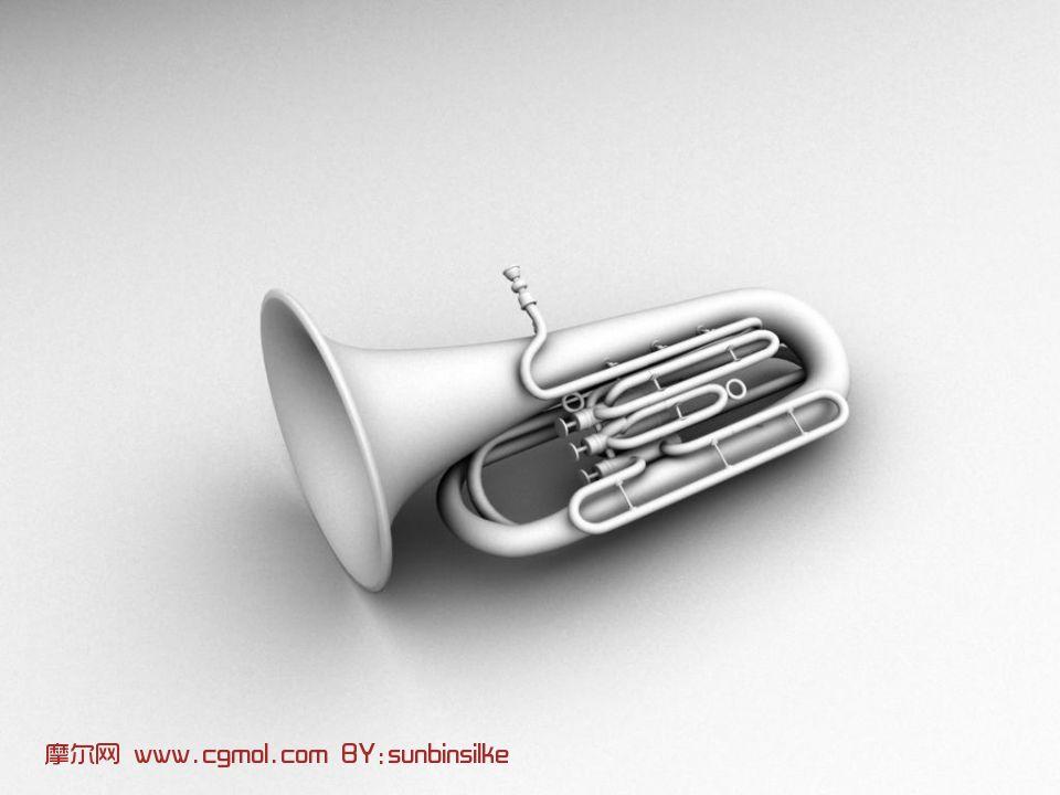 小号,乐器3d模型