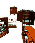 中式古典家具组合3d模型