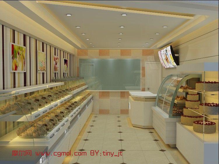 蛋糕店,糕点店,面包店3D模型