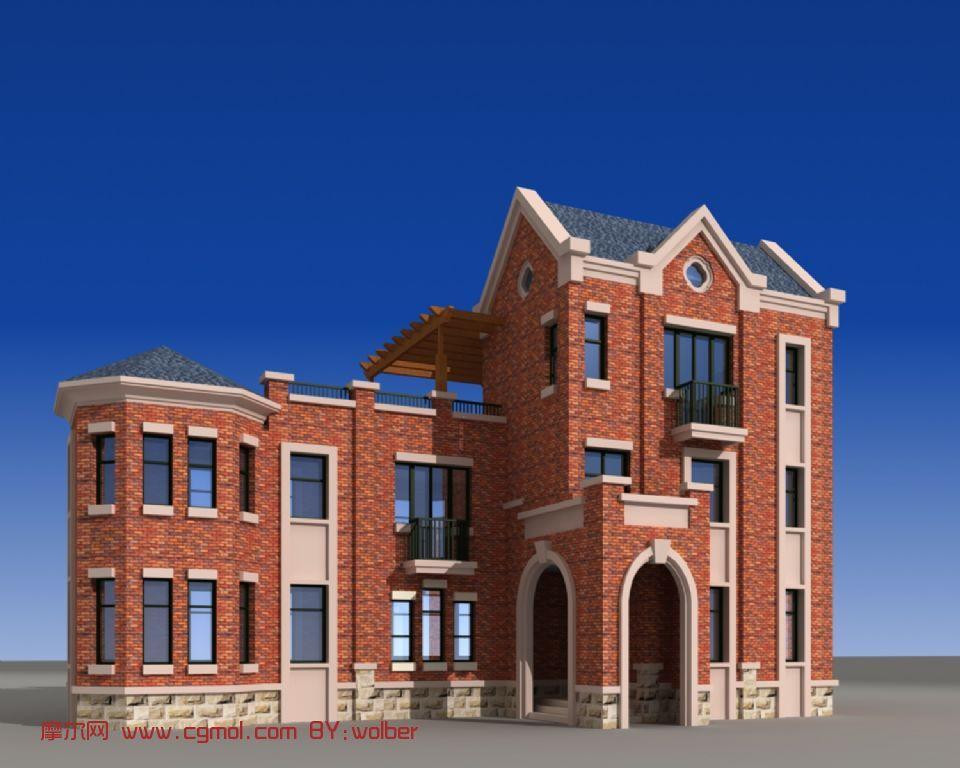 英式场景,楼房,命名场景3d别墅,现代模型,场景大全别墅建筑图片