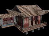 琉璃瓦建筑,古建3D模型