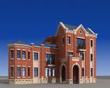 英式别墅,楼房,建筑场景3d模型