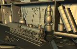 玩具火车,室内场景3d模型