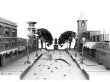 凌乱的街头,街道建筑,广场建筑3D模型