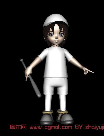 小男孩 动画人物3d模型 高清图片