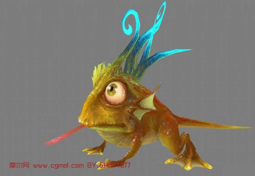 蛤蟆,游戏怪兽3d模型