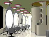 美发厅,理发店,室内设计,场景3d模型