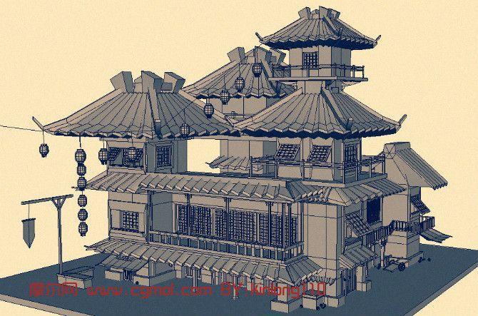 歐洲古代建筑3d模型圖片展示