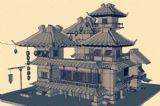 酒店,游戏建筑3d模型