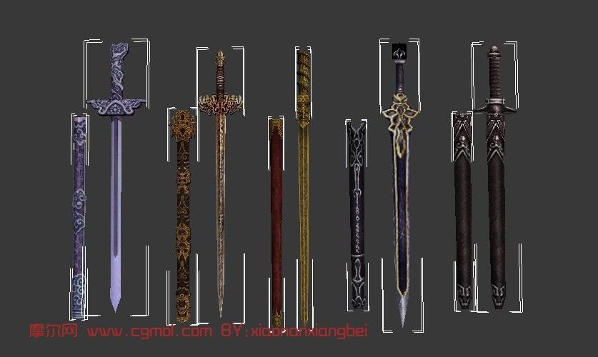 剑,游戏武器3d模型