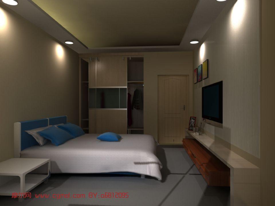 卧室,室内设计3d模型