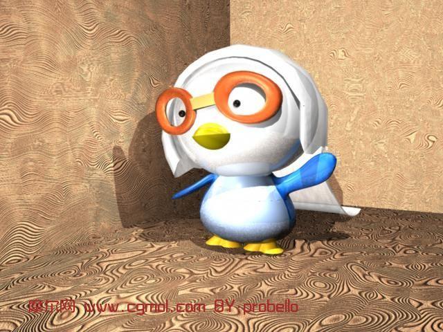 可爱小企鹅动画图片