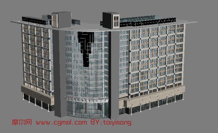 转角楼,楼房,建筑场景maxe3d模型