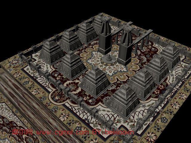 城堡,建筑,室外场景3d模型