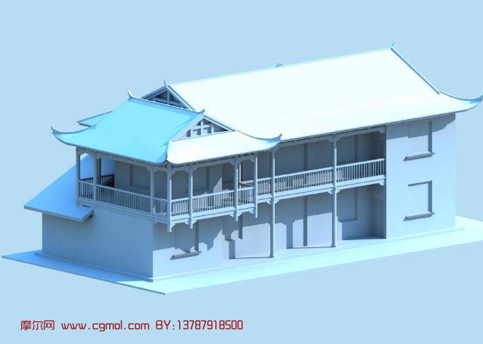 房子,古代建筑max3d模型