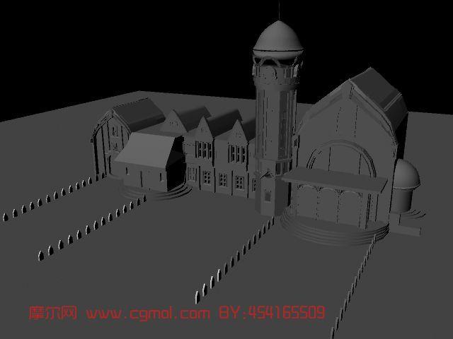 室内场景模型maya3d模型 高清图片