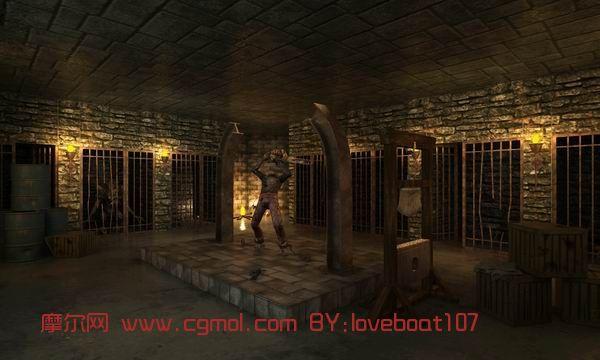 室内,游戏场景max3d模型
