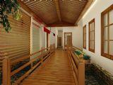 会所走廊,室外场景max3d模型