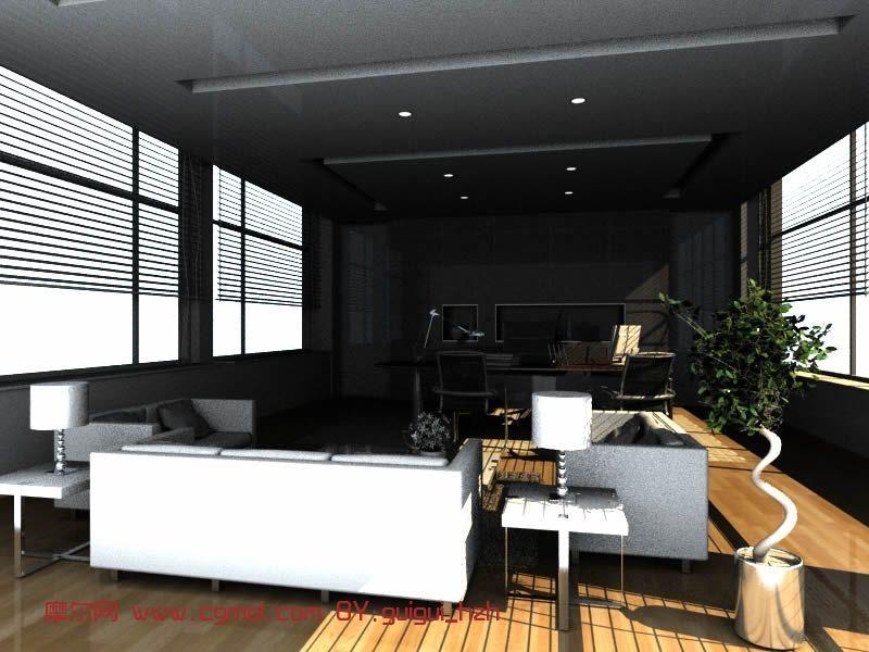 经理办公室,室内场景3d模型