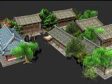 大唐无双都城,建筑,房屋,室外场景max3d模型