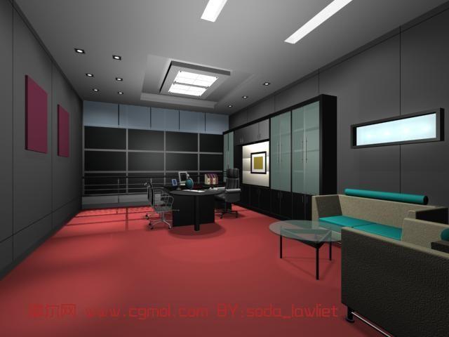 办公室,室内场景max3d模型