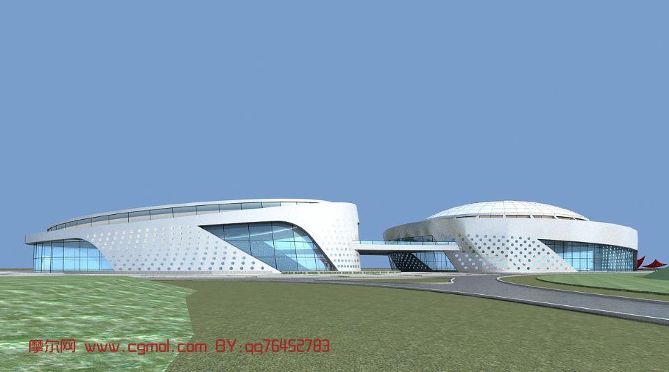 体育馆,建筑,室外场景max3d模型