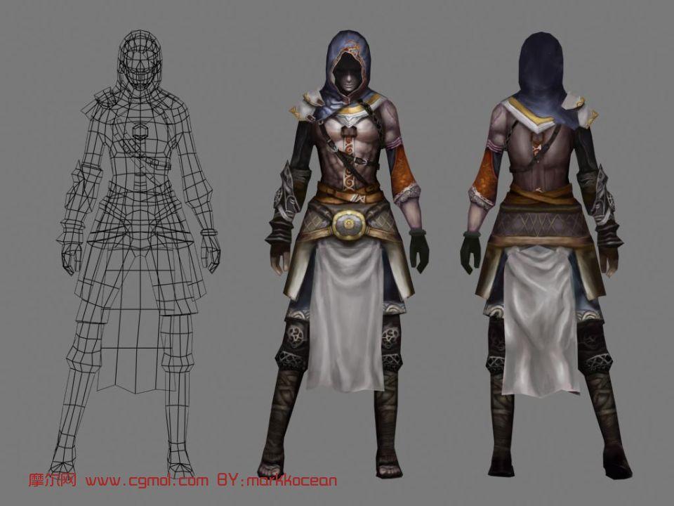刺客,游戏人物max3d模型