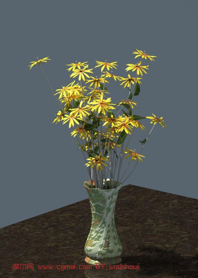 野菊花,盆景,室内装饰max3d模型