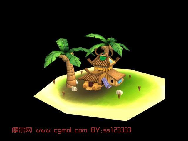 场景 椰子树