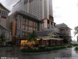 酒店外景建筑3D模型