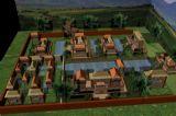 城楼,游戏场景maya3d模型