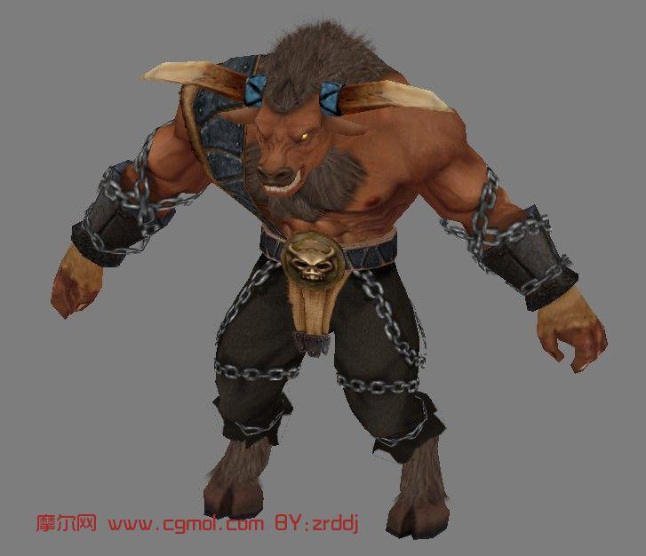 牛头人,游戏人物max3d模型