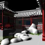 古代走廊,室外场景max3d模型
