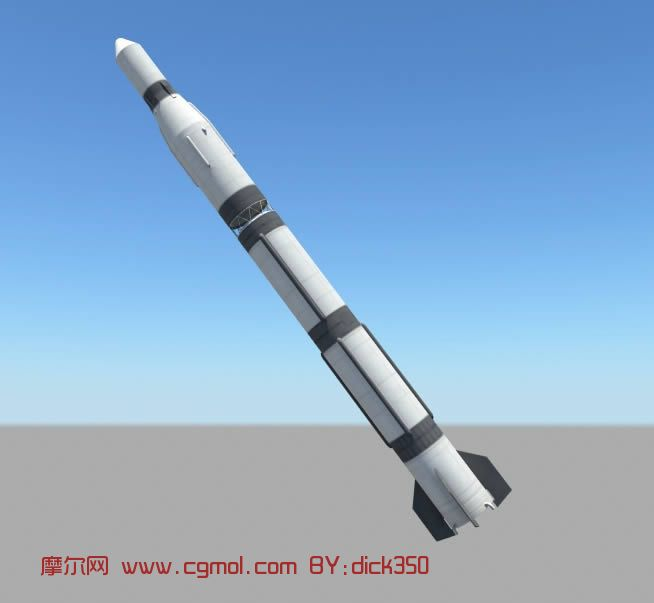 东方红一号,长征号火箭3d模型